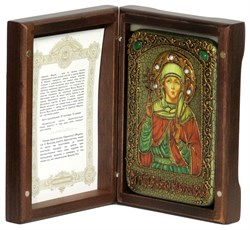 Святая мученица Виктория Кордувийская икона на мореном дубе. - фото 9650