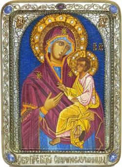 """Образ Божией матери """"Скоропослушница"""", живописная икона в авторском стиле - фото 9674"""
