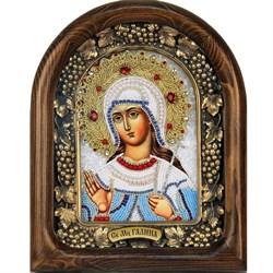 Галина Святая мученица, дивеевская икона из бисера - фото 9686