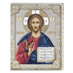 Господь Вседержитель икона с серебряным окладом (Valenti) - фото 9698