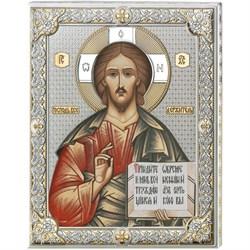 Господь Вседержитель икона с серебряным окладом (Valenti) - фото 9699