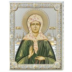 Матрона Московская икона в серебряном окладе (Valenti) - фото 9700