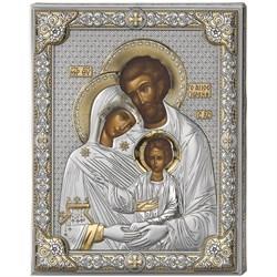 Святое Семейство икона в серебряном окладе (Valenti) - фото 9705