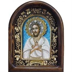Алексий Преподобный, человек Божий, дивеевская икона из бисера - фото 9719