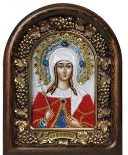 Икона Иулия (Юлия) Анкирская Дева Мученица, дивеевская икона из бисера - фото 9739