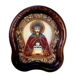 Даниил Московский, дивеевская икона из бисера ручной работы - фото 9741
