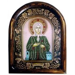 Ксения Петербургская, дивеевская икона из бисера - фото 9751