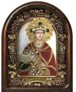 Димитрий (Дмитрий) Солунский, дивеевская икона из бисера ручной работы - фото 9753