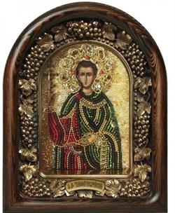 Мученик Тимофей Кесарийский, дивеевская икона из бисера - фото 9780