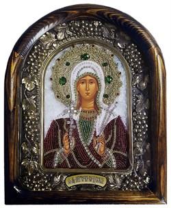 Икона Святая Мученица Виктория Кордубская, дивеевская икона из бисера - фото 9784