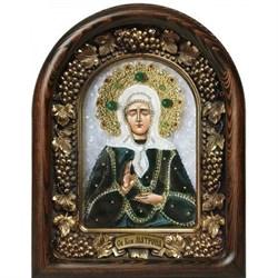Матрона Московская, дивеевская икона из бисера - фото 9794