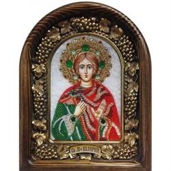 Икона Мученик Валерий Мелитинский, дивеевская икона из бисера ручной работы - фото 9804