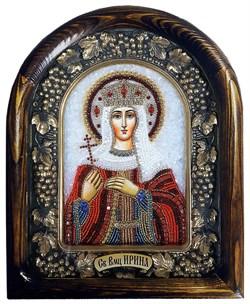 Икона Святая Великомученица Ирина, дивеевская икона из бисера - фото 9808