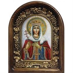 Икона Святая Великомученица Ирина, дивеевская икона из бисера - фото 9813