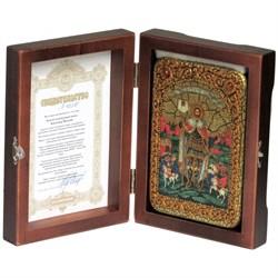Святой благоверный князь Александр Невский икона ручной работы под старину - фото 9839