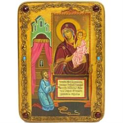 """Образ Пресвятой Богородицы """"Нечаянная Радость""""  живописная икона в авторском стиле - фото 9853"""
