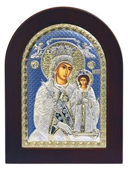 Неувядаемый цвет образ Божией Матери, икона с серебряным окладом - фото 9882