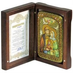 Петр и Феврония икона ручной работы под старину - фото 9891