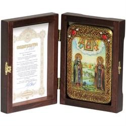 Петр и Феврония икона ручной работы под старину - фото 9908
