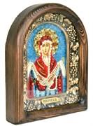 Покров Пресвятой Богородицы, дивеевская икона из бисера ручной работы
