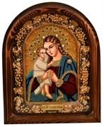 Взыскание погибших образ Божьей Матери, дивеевская икона из бисера ручной работы