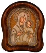 Вифлеемская Божья Матерь, дивеевская икона из бисера ручной работы