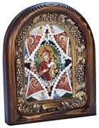 Неопалимая Купина образ Божией Матери, дивеевская икона из бисера ручной работы