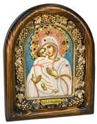 Феодоровская Божья Матерь, дивеевская икона из бисера ручной работы