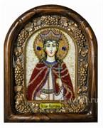 Екатерина Святая Великомученица, дивеевская икона из бисера