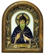 Симеон (Семен) Преподобный, дивеевская икона из бисера