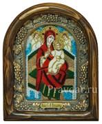Всецарица образ Божьей Матери , дивеевская икона из бисера ручной работы