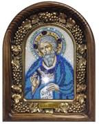 Андрей Апостол , дивеевская икона из бисера