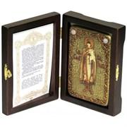 Глеб Святой князь икона ручной работы под старину