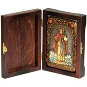 Даниил Московский Святой князь икона ручной работы под старину
