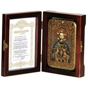 Иоанн Кронштадский икона ручной работы под старину