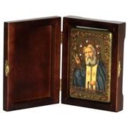 Серафим Саровский икона ручной работы под старину