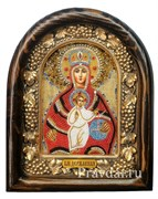 Державная икона Божьей Матери, дивеевская икона из бисера