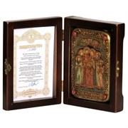Святые царственные страстотерпцы икона ручной работы под старину
