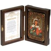 Алла Святая мученица икона ручной работы под старину