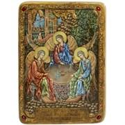 Троица, живописная икона в авторском стиле