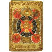 Всевидящее Око Божие, икона в авторском стиле на мореном дубе (большая)