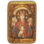 Знамение образ Божьей Матери, икона на мореном дубе
