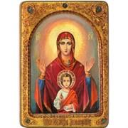 Знамение образ Божьей Матери, живописная икона в авторском стиле