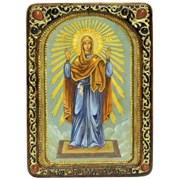 Нерушимая стена живописная икона Божьей Матери в авторском стиле