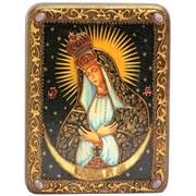 Остробрамская (Виленская) образ Божьей Матери в авторском стиле на мореном дубе