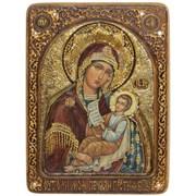 Утоли моя печали образ Божией Матери живописная икона в авторском стиле