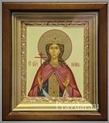 Ирина Македонская Святая великомученица, икона в киоте 16х19 см