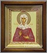 Лидия Святая мученица, икона в киоте 16х19 см