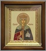 Людмила Чешская Святая княгиня, икона в киоте 16х19 см
