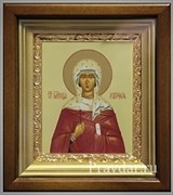 Наталия Святая мученица, икона в киоте 16х19 см